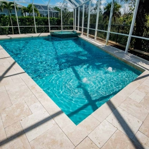 Marble Deck with Glass Tile